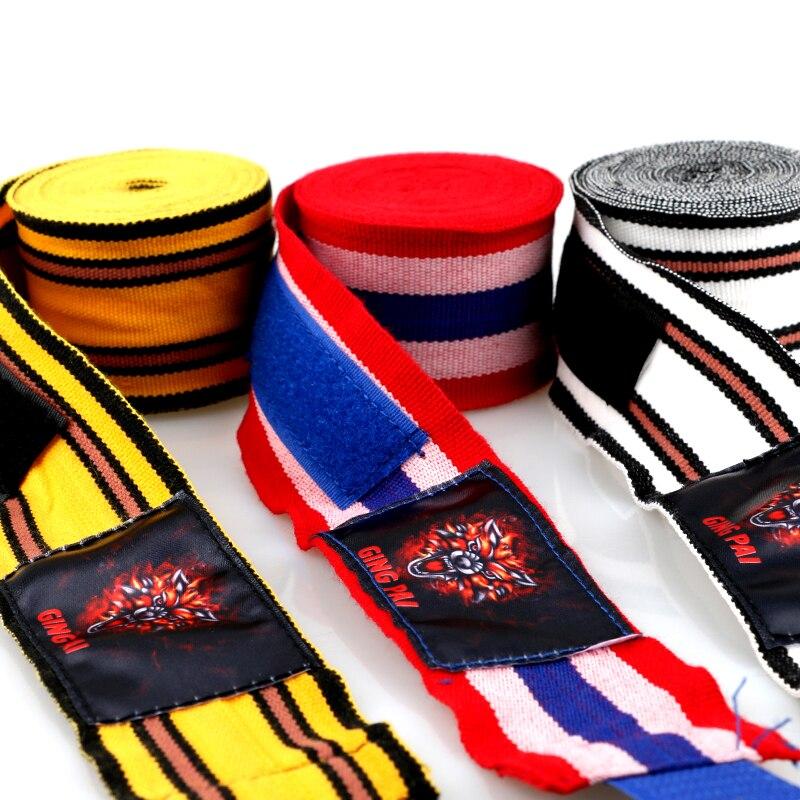 Prix pour 3 M 5 M Bonne qualité élastique coton MMA handwrap kickboxing main wraps Muay thai boxe gant main protecteurs poinçon de boxe bandage
