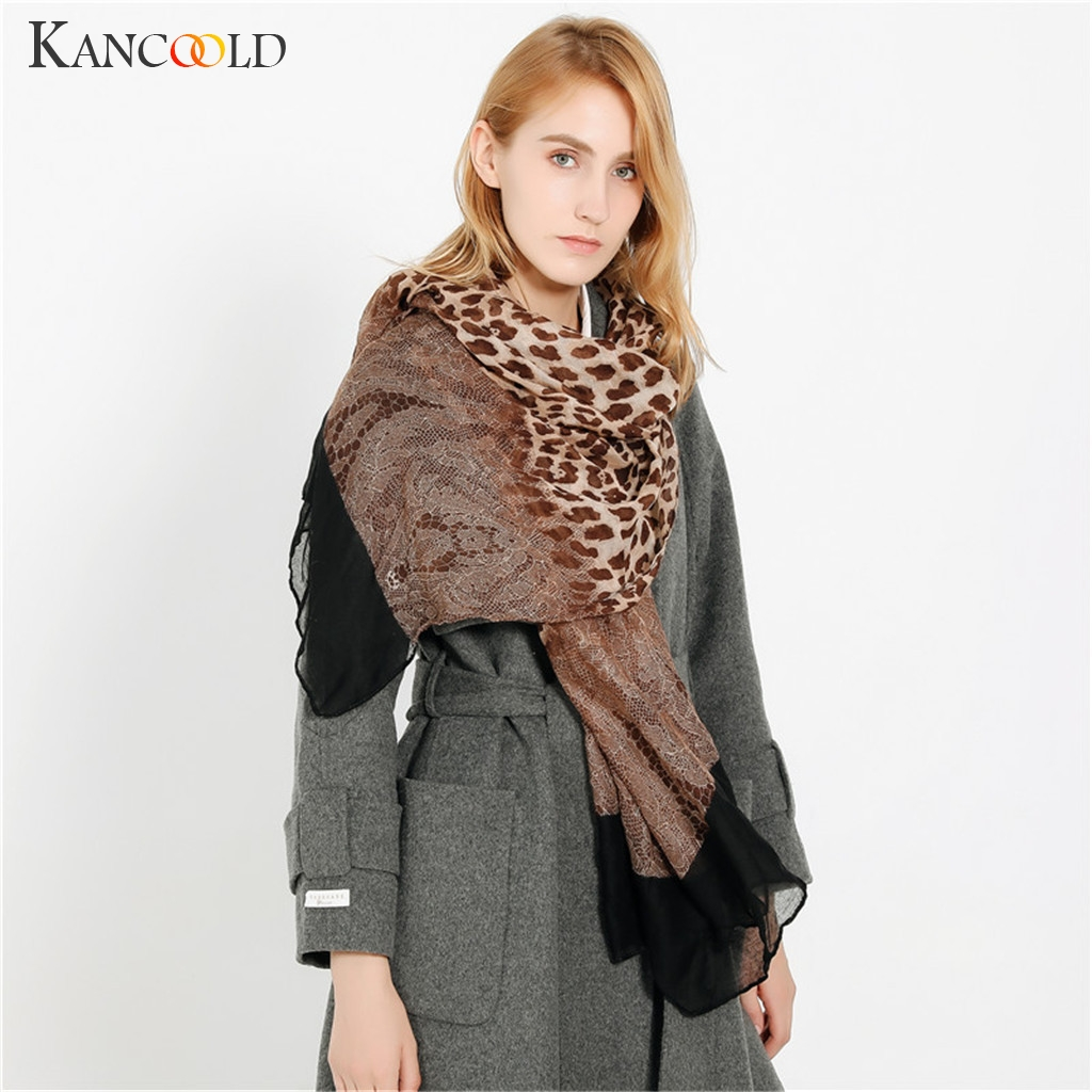 KANCOOLD   Scarf   Women Ladies Maple Leaf Print Pattern Lace Long   Scarf   Warm   Wrap   Shawl fashion casual   Scarf   Women 2018Nov20
