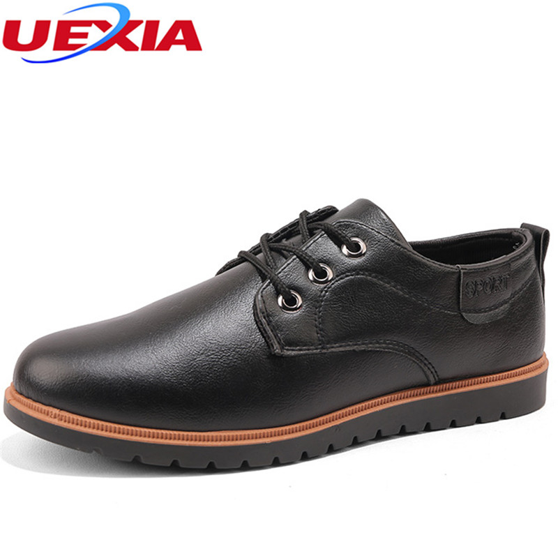 UEXIA 2018 New Hot Sale Men Flats Shoes Fashion Brand Casual Shoes Male Retro Comfortable Footwear Non-slip Male High Quality men casual shoes 2017 hot sale canvas shoes white gray flats concise street fashion hook