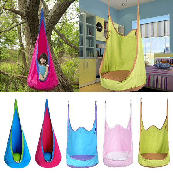 Kids Inflatable Cushion Hanging Hammock Chair Swing Seat Toy Kids Baby Indoor Garden Patio Fun