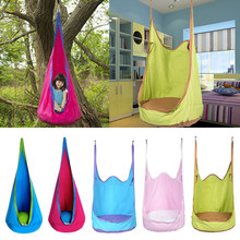Kids Inflatable Cushion Hanging Hammock Chair Swing Seat Toy Kids/Baby Indoor & Garden Patio Fun(China)