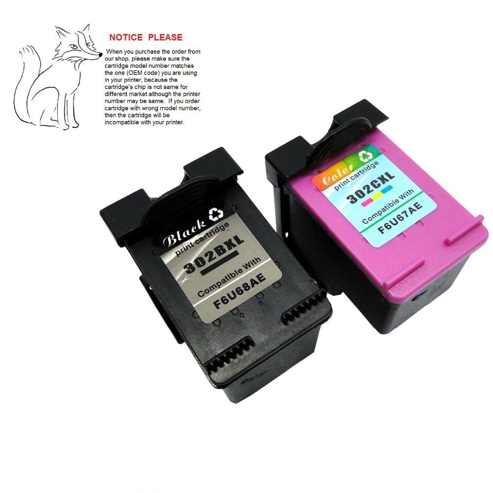 YOTAT 1set Remanufactured ink cartridge for HP302 HP302XL ...