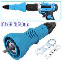 Elektrische Niet Mutter Pistole Nieten Werkzeug Cordless Nieten Bohrer Adapter Einsatz Mutter Werkzeug Nieten Bohrer Adapter 2,4mm-4,8mm
