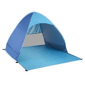 Image 4 - Lixada otomatik anında Pop Up plaj çadırı hafif açık UV koruma kamp balıkçı çadırı Cabana güneş barınak