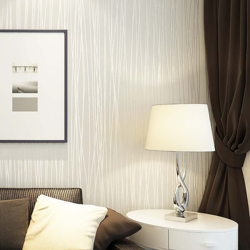 non tiss mode pais flocage rayures verticales papier peint pour salon canap fond murs maison. Black Bedroom Furniture Sets. Home Design Ideas