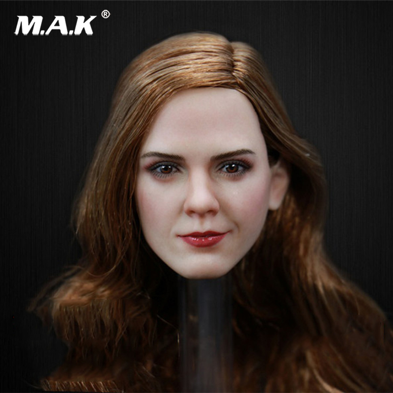 1/6 Scale Female Figure Beauty Lady Emma Watson Head Sculpt for 12 Inches Women Bodies 1 6 scale the game of death bruce lee head sculpt and kungfu clothes for 12 inches figures bodies