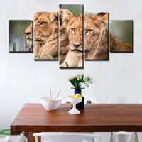 New Arrival Artwork Lioness And Lion As Docile As HD Prints Animals Landscape Poster For Living