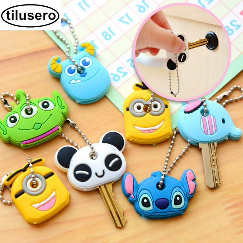 1PCS Cartoon Silicone Protective Key Case Cover For key Control Dust Cover Holder Organizer Home Accessories F0301PCS Cartoon Silicone Protective Key Case Cover For key Control Dust Cover Holder Organizer Home Accessories F030