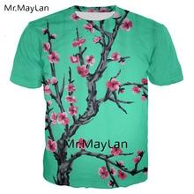 Harajuku Arizona Green Tea 3D Digital Print Floral Tshirt Men/women Gothic Streetwear T Shirt Boy Casual Clothes Tee Shirt Homme недорого