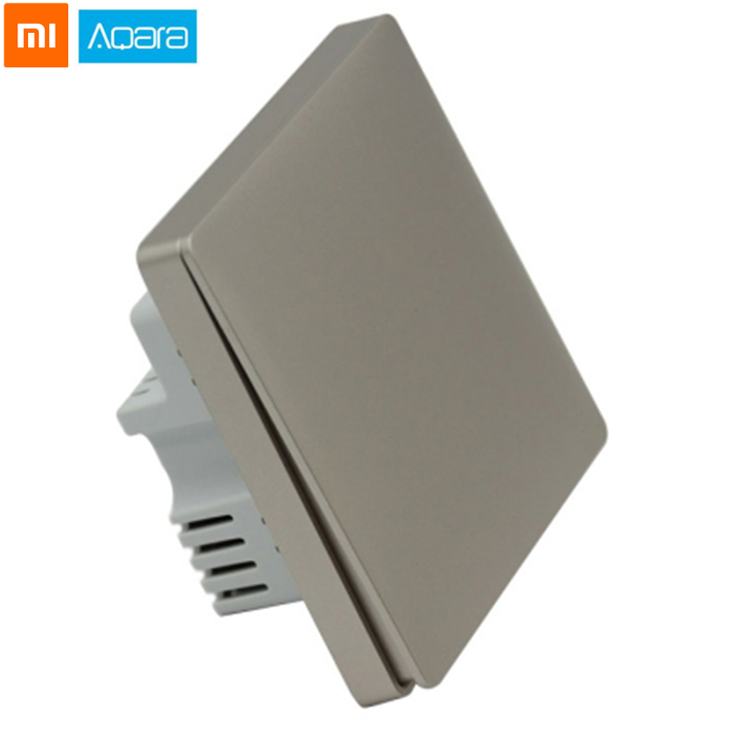 Original Xiaomi Aqara Single Button Wall Home Switch Panel Smart Single Key Version Single Fire Remote Control For Mi Home(China)
