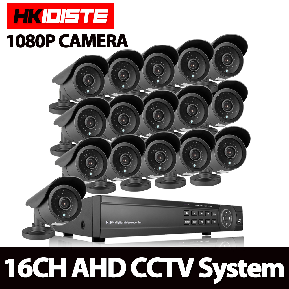 AHD 16CH 1080N HDMI 1080P DVR 3000TVL 2.0MP HD Outdoor Security Camera System 8 Channel CCTV Surveillance DVR Kit AHD Camera Set sannce 16ch 1080n hd dvr ahd hdmi cctv 8 pcs outdoor ir cut home security camera system 16 channel surveillance kit 2tb hdd