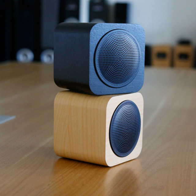 2018 new portable wooden bluetooth speaker box mini square. Black Bedroom Furniture Sets. Home Design Ideas