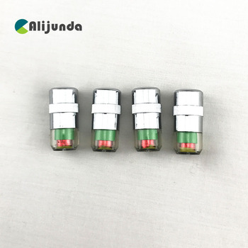 4PCS Tire Pressure Detecting Cap Visible Alarm Monitor Indicator Car Accessories for Toyota Camry Corolla RAV4 Yaris Highlander/ image