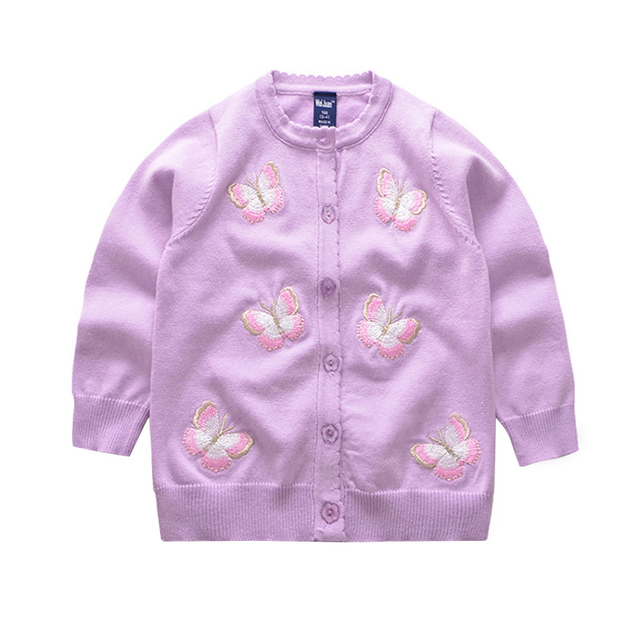 Kids Butterfly Embroidery Sweater Long Sleeve Infant Girl Sweaters ...