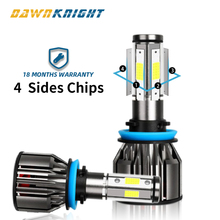 4 Sides  H7 Led Bulb 9005 9006HB4 H8 H9 H11 H7 Led Lamp 12000LM 6000K Turbo Cooling Car Led Headlight 360degree Illumination