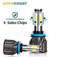 Ampoule Led H7 9005 9006HB4 H8 H9 H11 H7 lampe à Led 12000LM 6000K, éclairage à phare Led degrés