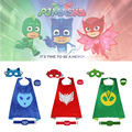 iMucci 5PCS PJ Cape Set Pajamas Masked Man Party Christmas Cloak Cosplay Birthday Costume Catboy Owlette Gekko Capes