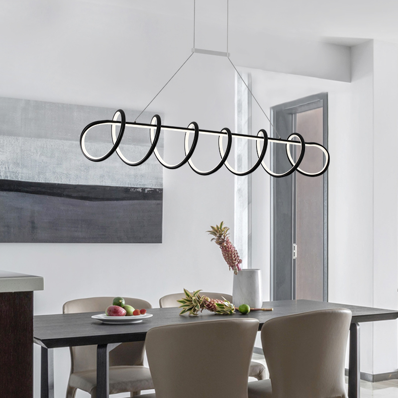L900/1200mm Creative modern LED pendant lights White/Black hanging pendant lamp for dining room living room kitchen AC85-265V modern guard dining room pendant lights white black golden silver lamp