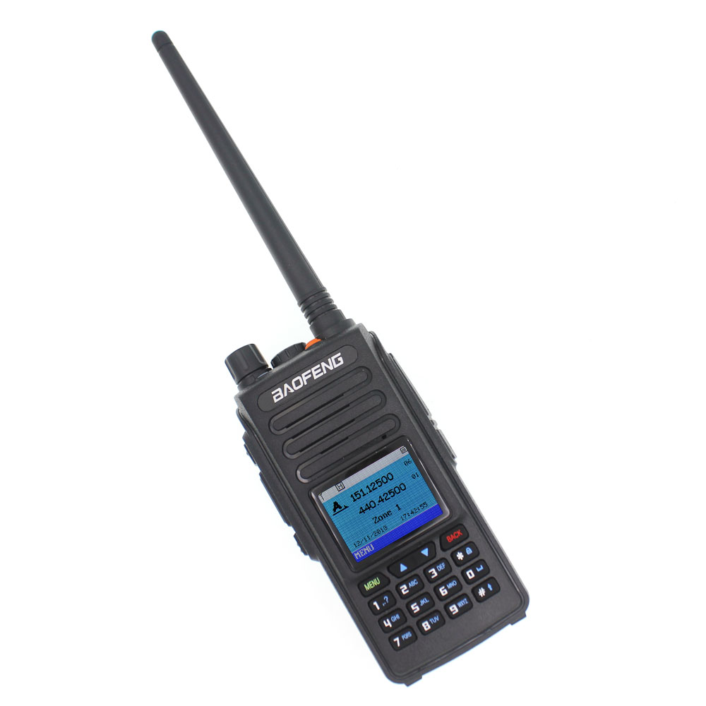 2019 Baofeng DMR DM-1702 GPS Walkie Talkie VHF UHF 136-174 & 400-470MHz Dual Band Dual Time Slot Tier 1&2 Digital Radio DM1702