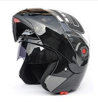Discount Safe Flip Up Motorcycle Helmets Moto Helmet Motocross Motorbike Helmet With Inner Sun Visor JIEKAI