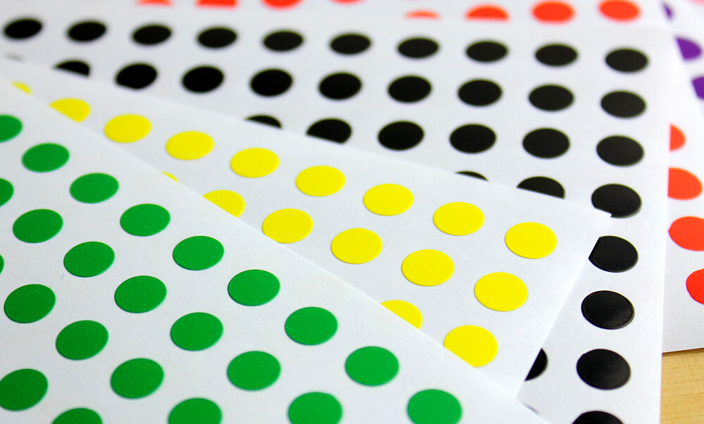 11 sheets 6mm small circle round color coded label index dot sticker