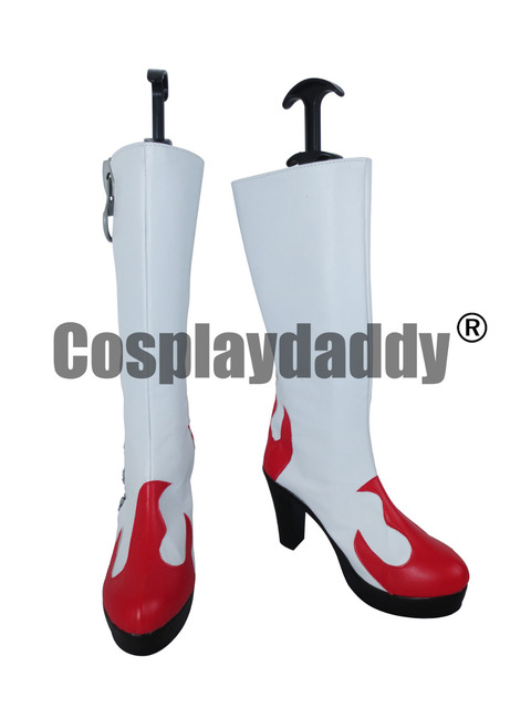 Tengen Toppa Gurren Lagann Yoko Littner Viral Red Cosplay Shoes Boots X002