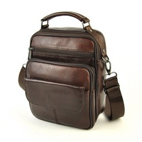 Brand New Fashion Classic Genuine Real Cowhide Leather Men Bag Shoulder Cross Body Messenger Casual Small