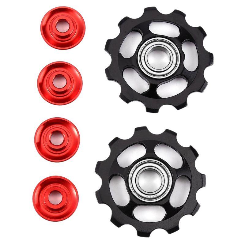 2pcs 11T Ultralight MTB Aluminum Alloy Bike Bearing Jockey Wheel Rear Derailleur