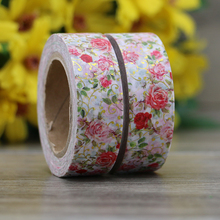 Office School Supplies - Office Adhesives  - 1X Red Flower Foil Washi Tape Japanese Paper 10m Kawaii Scrapbooking Tools Masking Tape Photo Album Decorative Stationery Tapes