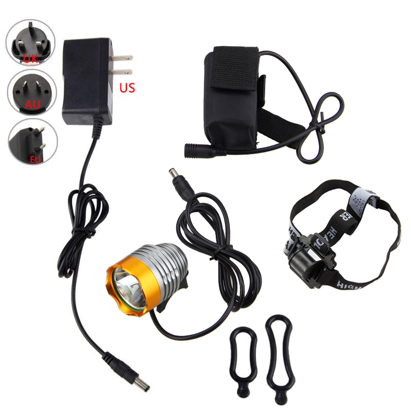 Bright 2500lm XM-T6 LED Bicycle Bike Light Torch Head Headlamp 4Pcs 18650 Battery Lamp Cycling LED Light cree xm l t6 bicycle light 6000lumens bike light 7modes torch zoomable led flashlight 18650 battery charger bicycle clip