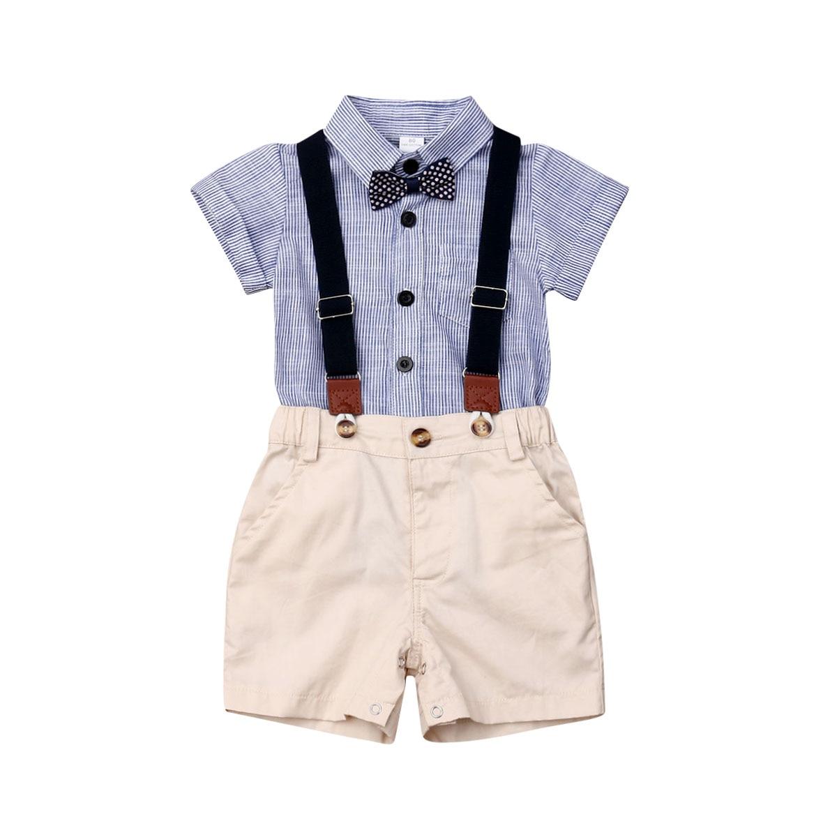 Beide Baby Boy Suit Gentleman Footed Romper With Bowtie