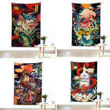 Shabby chic Japanischen ukiyo-e tattoo muster flagge banner vintage poster wand aufkleber tapisserie tuch malerei bar cafe home decor(China)