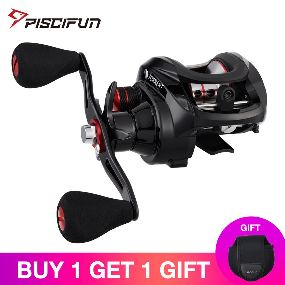Piscifun Torrent Fishing Reel 8.1kg Carbon Drag 7.1:1 5.3:1 Gear Ratio 6 Bearings Magnetic Brake Low Profile Baitcasting Reel(China)
