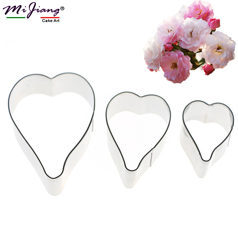 3 ცალი / კომპლექტი Rosa Multiflora Flower Mood Cupcake Fondant Mould Cake Decorating Tools Sugar Paste Cookie Cutter Mould DIY Paking A398