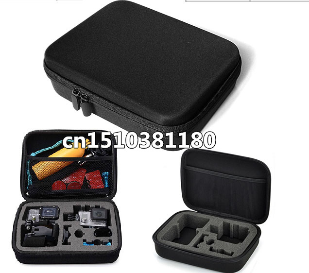 Medium Sized collection case Hard Protection carry bag for Xiao mi Yi action camera and mini camcorders