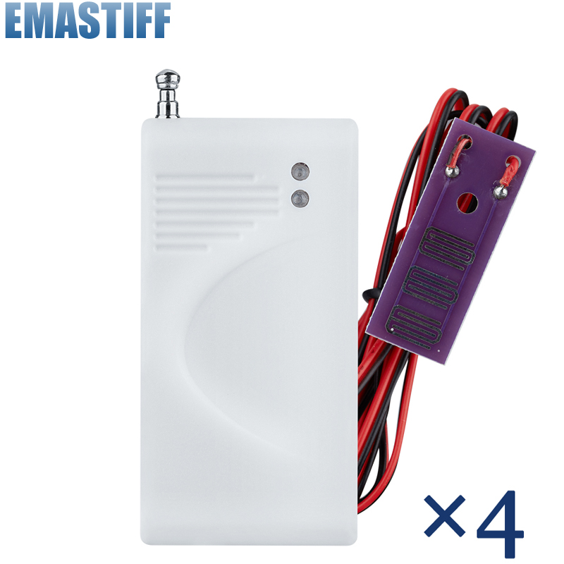 4pcs/lot 433MHz Wireless Water Intrusion Detector Leak Sensor Work With GSM PSTN SMS Home House Security for Alarm System russia ukrain romania water leak detector home alarm equipment and auto water shut off system with 1pc 1 2 valve dn15
