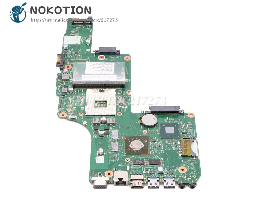 NOKOTION For Toshiba Satellite S855 C855 L855 Laptop Motherboard DK10FG-6050A2491301-MB-A03 V000275060 <font><b>HD</b></font> <font><b>7670M</b></font> HM76 DDR3 image