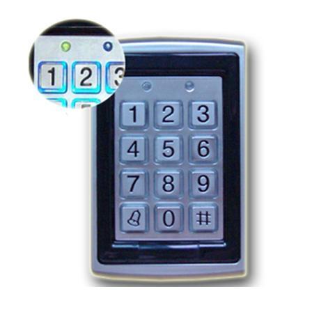 Metal RFID Okuyucu 125 kHz Proximity Kapı Erişim Kontrolü Tuş Takımı 7612 Desteği 1000 Kullanıcı Elektrikli Dijital şifreli kapı kilidi