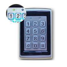 금속 rfid 리더 125 khz 근접 도어 액세스 제어 키패드 7612 지원 1000 사용자 전기 디지털 암호 도어 잠금