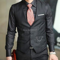Freeshipping 2014 Autumn Men's Fashion Slim Fit  Sleeveless Jackets Men Suits Vest  (no chain the pocket)