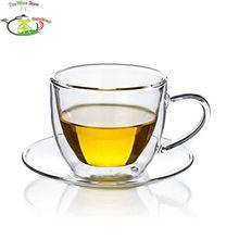 1 х 160 м набор чайных чашек-термостойкая Двойная Стенка чайная кофейная чашка+ блюдце-м 125 мм новая чашка ручной работы сделано в Китае