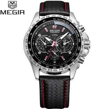 Leather Strap Quartz Men Wrist Watch 1