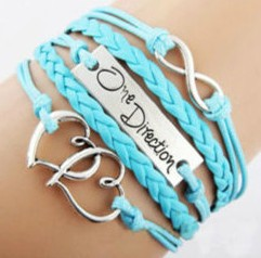 Accessories wholesale one direction love infinite symbols eight bracelet one-way band