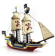 Enlighten 487PCS Pirate Series Pirate Ship Weapons Boat Building Blocks Bricks Speelgoed Voor Kinderen Sets Legoe Compatible