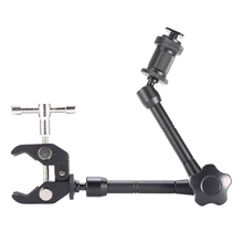 11 Inch Adjustable Friction Articulating Magic Arm + Super Clamp for SLR LCD Monitor LED Flash Light Camera Accessories