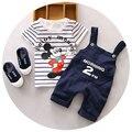 Boutique Roupas Para Bebés 2 pcs Dos Desenhos Animados Do Rato de verão Conjuntos Curtos Conjunto Camisola Criança Roupas Menino Da Criança Calções Ternos