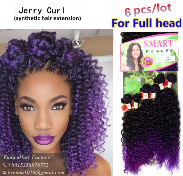 Good Quality Wavy Purple Color Natural Hair Fashion Idol Synthetic