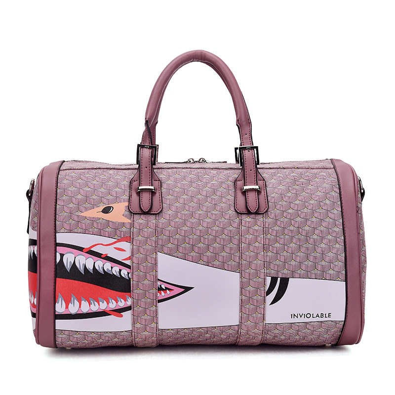 ФОТО The new spring and summer 2017 big shark brand Japanese graffiti bag bag handbag shoulder bag handbag