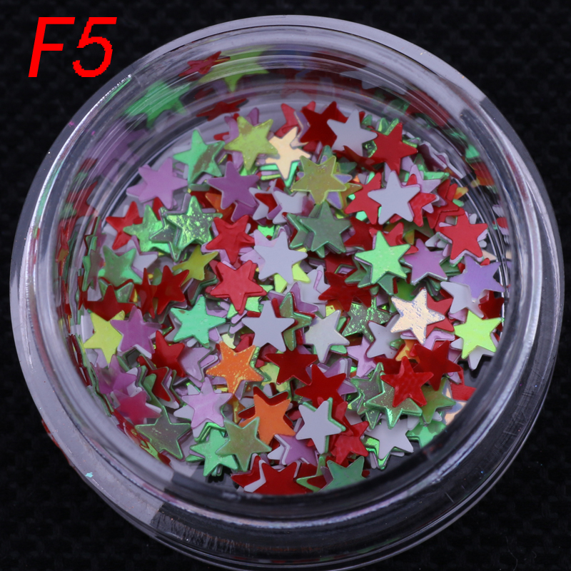 1set 12 boxes Stars Shape Nail Sequins Paillette Size 2mm Glitter Rhinestones for 3D Nail Salon Art Decoration tools 3d 12 candy colors glass fragments shape nail art sequins decals diy beauty salon tip free shipping