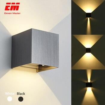 Led duvar Işık IP65 7 W Su Geçirmez Açık kapalı led duvar Lambası modern Alüminyum Ayarlanabilir açı AC90 ~ 260 V Sundurma Işık ZBW0002